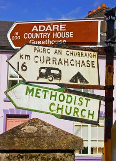 Adare signpost, Ireland