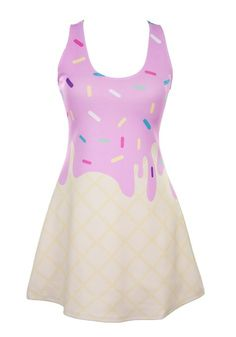 Japan LA Melty Ice Cream Cone Tank Dress Suggested by Suggested by Dead4CEREALZ on MTB17