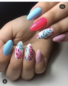 Elegant Nails, Stylish Nails, Trendy Nails, Summer Acrylic Nails, Spring Nails, Summer Nails, Sassy Nails, Cute Nails, Luxury Nails