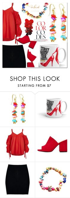 """1. 77 Spark"" by fatimka-becirovic ❤ liked on Polyvore featuring River Island and Boohoo"