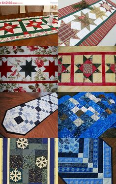 Table runners for every holiday table - brought to you by the Quiltsy Team @ Etsy -- Pinned with TreasuryPin.com