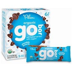 Plum Organics GO BAR - Chocolate Brownie   Go Bars are the perfect blend of nutrition and yum, designed with the flavors kids know and love. Made with 12g whole grains, 7 bessential vitamins and minerals, fiber and even veggies - these kids snacks pack a big punch! Made with 12g whole grains 7 essential vitamins and minerals Good source of fiber & calcium Non-BPA packaging in a recycled box