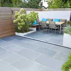 contemporary small family garden
