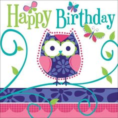 Party Supplies,Birthday Party,Juvenile Birthday,Owl Pal Birthday,Material_Paper,Theme_Owl Pal Birthday,Product Type_Lunch Napkins,Product Line_Juvenile Girls Birthday