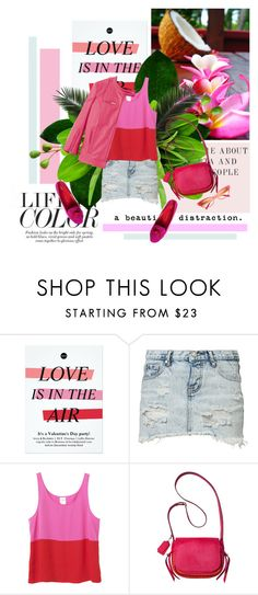 """""""Life in color 19/08/2015"""" by azi-izbassarova ❤ liked on Polyvore featuring One Teaspoon, Monki, Coach, Pink, hot, colorblock, colorful and summer2015"""