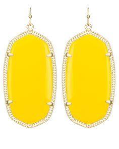 Danielle Earrings in Yellow - Kendra Scott Jewelry