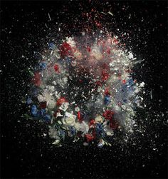 A series of large-scale photographs by Ori Gersht. Exploding floral arrangements, based upon a 19th Century still-life painting by Henri Fantin-Latour.