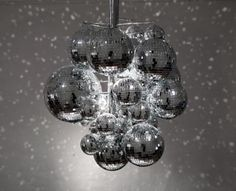 Discoballs Chandelier: This glitzy chandelier comes from Swedish design house FRONT