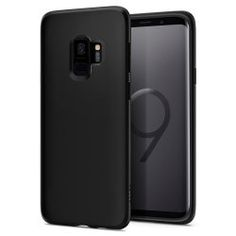 Spigen Liquid Crystal Designed for Samsung Galaxy Case - Matte Black New Samsung Galaxy, Samsung S9, Samsung Cases, Android Phone Cases, Phone Covers, Leather Case, Screen Protector, Matte Black, Crystals