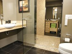 DIY Network's Bath Crashers created a handicap accessible bathroom without sacrificing design!