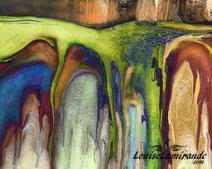 """""""En profondeur"""" Peinture numérique intuitive créée avec Painter X3. Mai 2014. © 2014, Louise Lamirande."""
