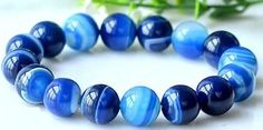 Blue agate meditation bracelets serve as a unique hand fiddle for anxiety, trichotillomania, dermatillomania skin picking disorder, and related BFRBs