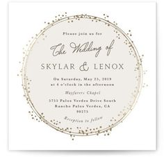 Tiara Foil-Pressed Wedding Invitations