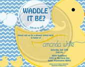Waddle it Be Baby Shower guessing game - boy or girl