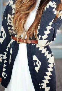 Sweater + belt.