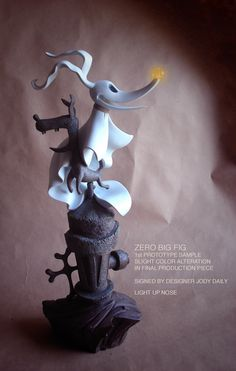 "Kevin Kidney & Jody Daily - Zero - ""Nightmare Before Christmas"" Figure with light-up nose"