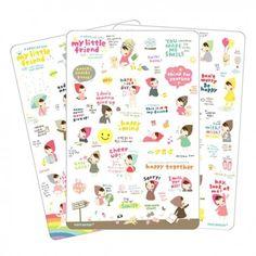 Pony Brown My Little Friend Special Version Stickers Set (◕ᴥ◕) Kawaii Panda - Making Life Cuter