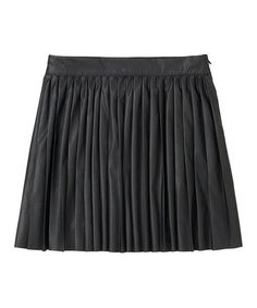 Take a look at this Black Faux Leather Moto Skirt - Girls by RUUM on #zulily today!