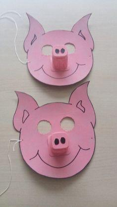 varkensmasker met yoghurtpotje