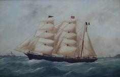 "Nantes' three-masted barque ""Belem""."