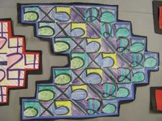Beautiful combination of math and art. Use for thirds on mult facts and seconds for add/subt.