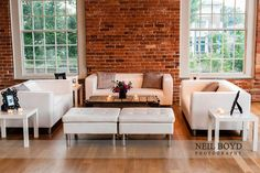 Have a chic lounge area for your guests to rest those dancing feet at your wedding reception.  The Cotton Room in Durham, NC.  DUKE wedding.  Raleigh weddings.