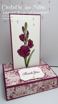 Positively papercraft: remake it Monday Free standing pop-Up Card Using graceful garden Fancy Fold Cards, Folded Cards, Squash Card, Pop Out Cards, Cardmaking And Papercraft, How To Make Paper, Stamping Up, Paper Crafts, Paper Art