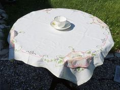Vintage Table Cloth 30 x 30 Table ClothHand by GrannysBottomDrawer
