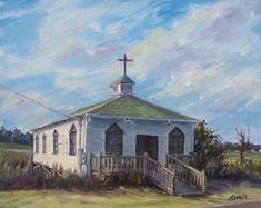Pawleys Island Chapel Painting - Pawleys Chapel by Sharon Sorrels