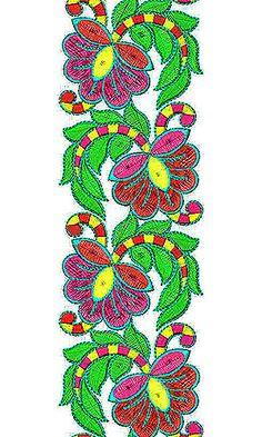Kimono Embroidered Obi Belt | Lace Border Brocade Design