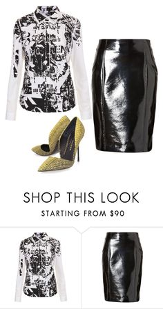 """""""DINAH JANE HANSEN"""" by iliketodesign ❤ liked on Polyvore featuring Topshop, Jonathan Saunders and Kurt Geiger"""