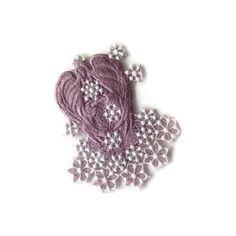 Snow Angel, Ornament Angel, Winter Angel, Lavender Angel, Machine Embroiderd Angel ($6.15) found on Polyvore