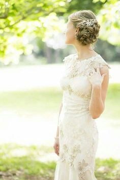 Claire Pettibone 'Viola' wedding dress