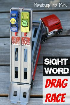 Sight Word Drag Racing! {Playdough to Plato}