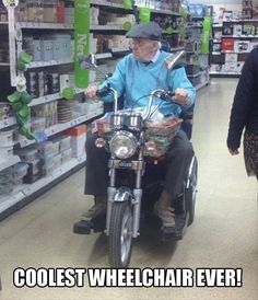 Cool motorcycle look for a wheelchair!