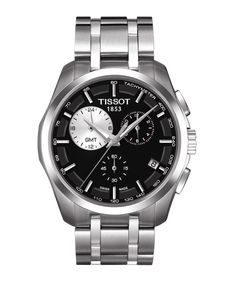 TISSOT COUTURIER QUARTZ CHRONOGRAPH GMT Cool Watches b5bb101a6be5