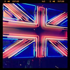 Union Jack neon sign