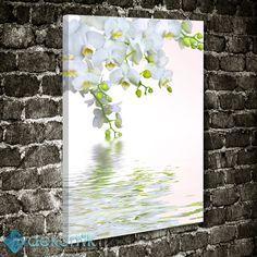Floral Beyaz Orkide Tablo #çiçekli_kanvas_tablo