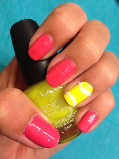 Cute tennis nails!