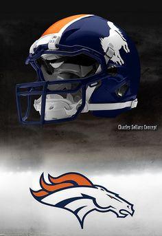 Broncos concept  helmet