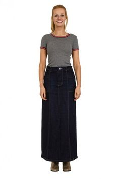 Queenie' Long Denim Skirt. Long Jean skirt. Modest Skirt ...