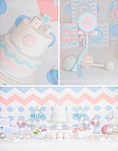 Gender Reveal Party with tons of cute ideas via Kara's Party Ideas KarasPartyIdeas.com #genderrevealparty