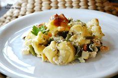 Tortellinis con verduras al horno