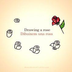 Per #SantJordi, taller virtual a Twitter i Instagram: Dibuixa una rosa. Feliç diada! #SantJordi2014 #UOCSantJordi