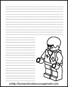 Free LEGO Printables - a new weekly series with new free LEGO printables each week!  from #Homeschool Encouragement #HSencouragement