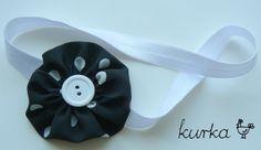 opaska handmade by kurka - kwiatek w kropki