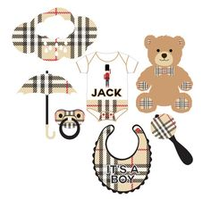 English Plaid Baby Shower Photo Booth Props Personalized - Printable or Printed. Set of 7 Baby Shower Photo Booth, Baby Shower Themes, Baby Boy Shower, Baby Shower Decorations, Shower Ideas, Burberry Bear, Burberry Baby Boy, Teddy Bear Birthday, Bear Images