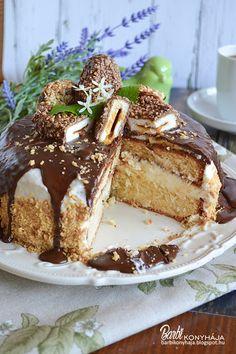 Barbi konyhája: Kinder Maxi King torta King Torta, Maxi King, Icebox Cake, French Toast, Food Porn, Food And Drink, Pudding, Cupcakes, Sweets