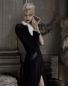 Russian Vogue December 2012 - The Russian Vogue December 2012 issue does not disappoint in the fashionable exuberance that the publication has become known for.   Model Nastya K...