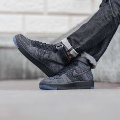 Nike Air Force 1 Ultra Flyknit Mid - Dark Grey/Black  Release  Thursday 28th January 2016 Instore & Online  Berne | Zurich by titoloshop